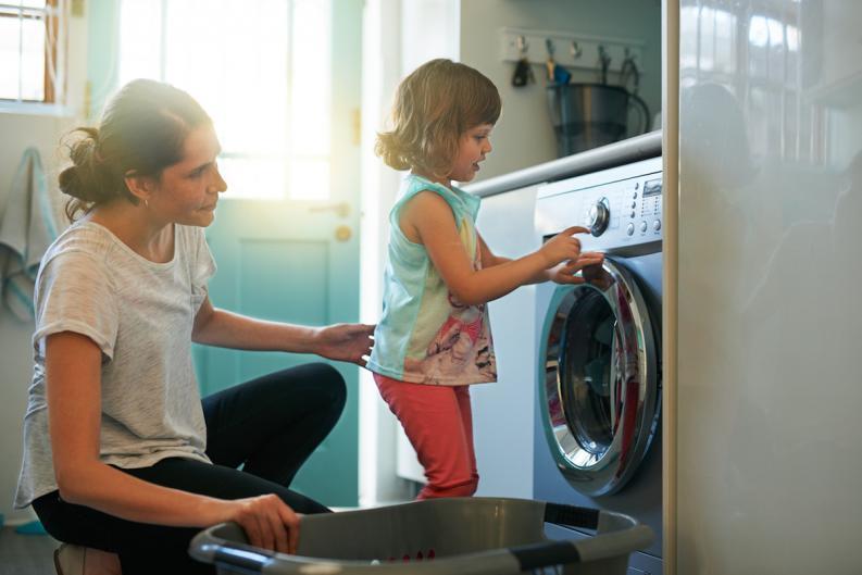 ¿Eres una mamá ocupada? trucos para que lavar la ropa.